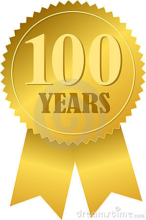 centennial seal and ribboneps royalty free stock image