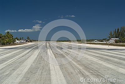 Center of Airport Runway