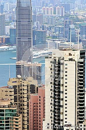 Center city of Hongkong Editorial Image