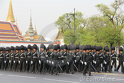 Center full-dress procession (The Royal Field) Editorial Stock Photo
