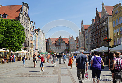 Center of Gdansk Editorial Image
