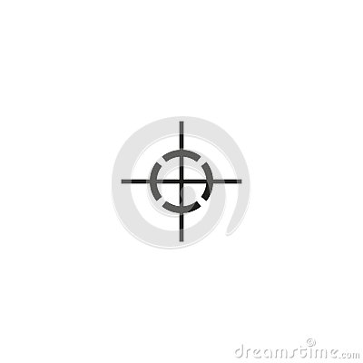 Center of gravity symbol on white background Vector Illustration