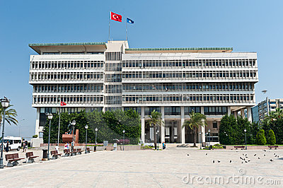 Center of Konak, Izmir province of Turkey Editorial Stock Photo