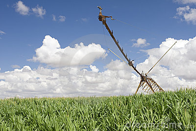 A center modern pivot irrigation system