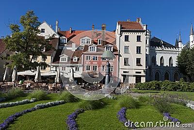 Center of old Riga city, Latvia, Europe
