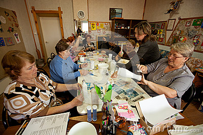 Center of social services for pensioners Editorial Photography