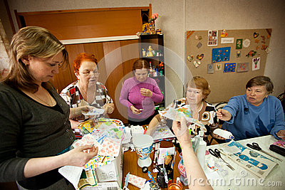 Center of social services for pensioners Editorial Stock Photo