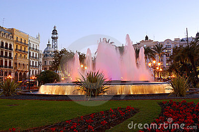 Center of valencia, spain