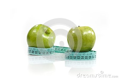 Centimeter and two apples