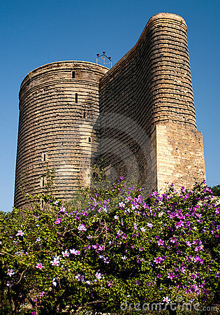Central baku azerbaijan with maidens tower