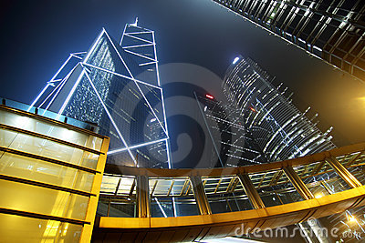 Central, the business center in Hong Kong.