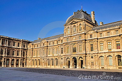 Central Courtyard Of The Louvre, Paris Stock Image - Image: 20729391
