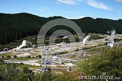 Central Eléctrica De Wairakei, Nueva Zelandia