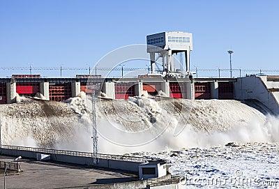 Central elétrica hidroelétrico