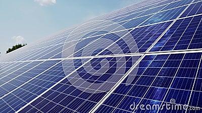 Central el?ctrica usando energ?a solar renovable con el sol metrajes