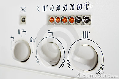 Central heating boiler controls