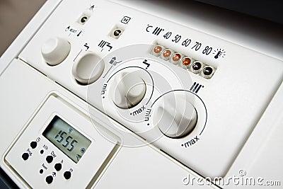 Central heating boiler panel