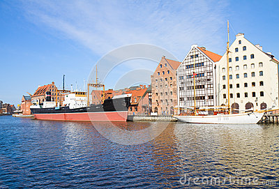 Central Maritime Museum in Gdansk at Motlawa river