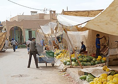 Central market souk of Erfoud Editorial Stock Photo