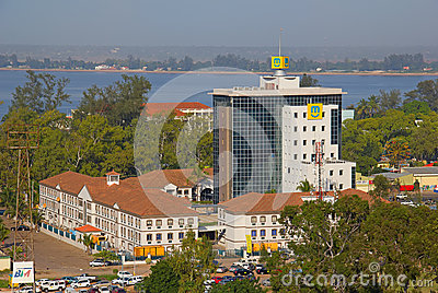 Central office of telecommunication company MCel Editorial Stock Image
