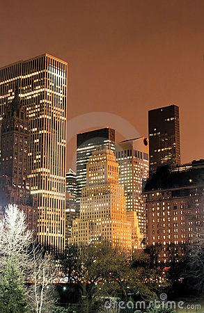 Free Central Park And Manhattan Skyline, New York City Royalty Free Stock Images - 1742209
