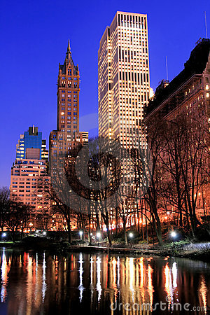 Free Central Park And Manhattan Skyline, New York City Stock Photos - 1742363