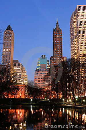 Free Central Park And Manhattan Skyline, New York City Royalty Free Stock Photos - 1742398