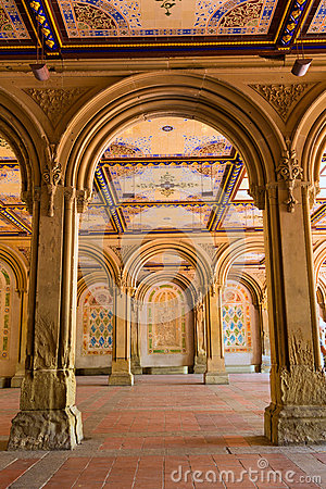 Free Central Park Bethesda Terrace Underpass Arcades Stock Photo - 49001770
