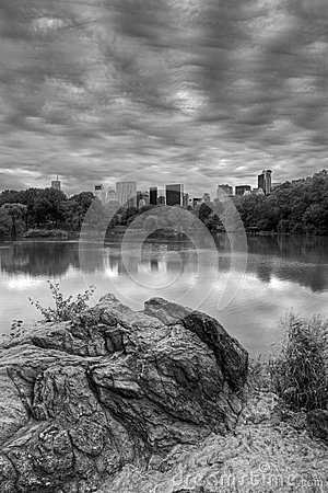 Central Park on cloudy day