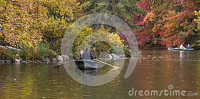 Central Park At Fall Editorial Stock Image
