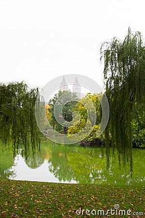 The Central Park lake, NY