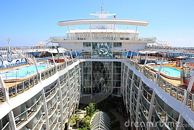 Central park onboard Oasis Of the Seas Editorial Stock Photo
