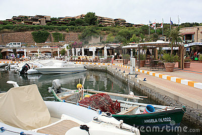 The Central Piazza Of Portisco Marina, Sardinia Editorial Image