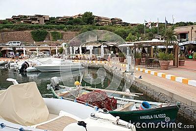 The Central Piazza Of Portisco Marina, Sardinia Editorial Image