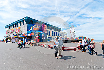 Central Pier in Blackpool Editorial Stock Photo