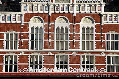 Central Railway Station in Amsterdam Editorial Stock Image