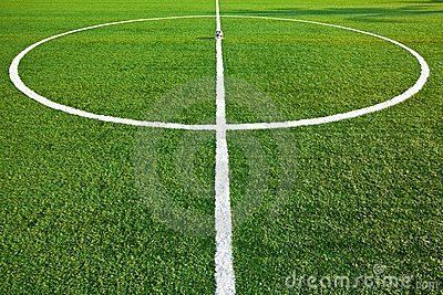 Central of a soccer field