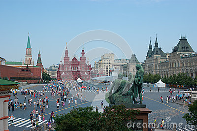 The central Square of Moscow Editorial Stock Image