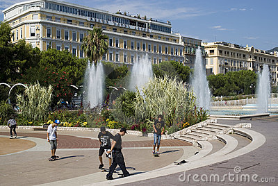 Central Square in Nice, France Editorial Photo