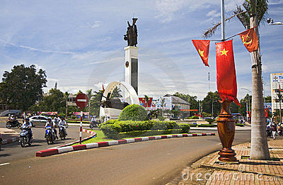 A Central Square in Vietnam Editorial Photo
