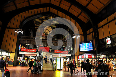 The Central Station of Hamburg. Editorial Image