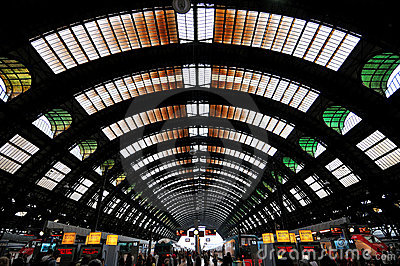 The Central Station in Milan, Italy Editorial Stock Photo