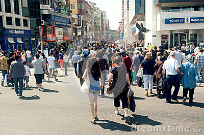 Central street in Izmir Editorial Stock Image