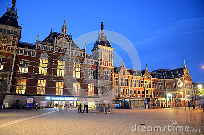 Central Train Station - Amsterdam, The Netherlands Editorial Image