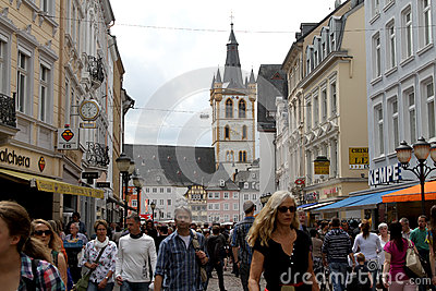 Central Trier, Germany Editorial Stock Image