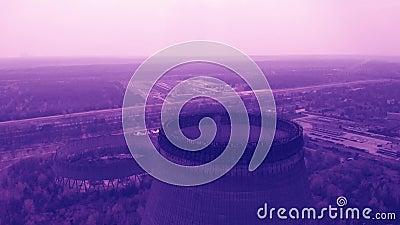 Centrale nucléaire de Chernobyl, vidéo de couleur modifiée la tonalité banque de vidéos