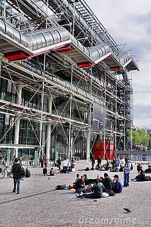 Centre de Pompidou, Paris Editorial Stock Photo