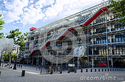Centre Georges Pompidou - Paris, France Editorial Stock Photo