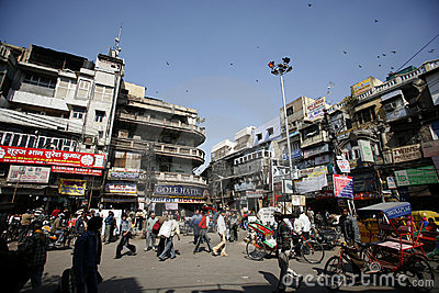 Centre of old market, chandni chowk Editorial Stock Photo