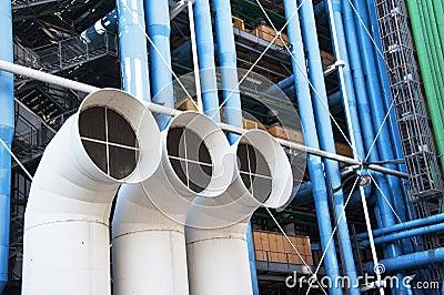 Centre  Pompidou, detail Editorial Stock Photo